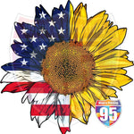 Half Flag Sunflower Heat (Iron On) Transfer or Sublimation Transfer