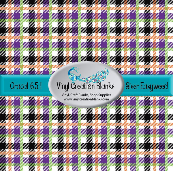 Halloween Plaid Outdoor Vinyl and HTV