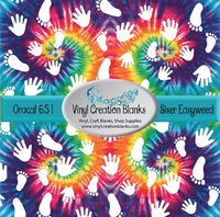 Hands and Feet on Tie Dye Pattern Vinyl