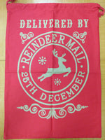 Delivered by Reindeer Santa Bag