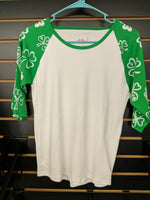 Shamrock Sleeve Youth Raglan (10-12)