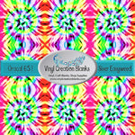 Kaleidoscope Tie Dye Pattern Craft Vinyl for Vinyl Cutters