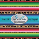 Leopard Print Serape Self Adhesive Outdoor Vinyl or Heat Transfer Vinyl (HTV)
