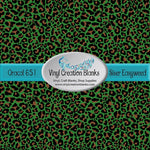 Leopard on Green Print Pattern Outdoor Vinyl or HTV