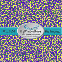 Mardi Gras Leopard on Yellow Print Pattern Outdoor Vinyl or HTV