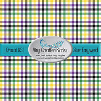 Mardi Gras Plaid Pattern Self Adhesive Vinyl or Heat Transfer Vinyl
