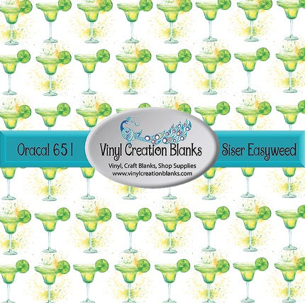 Margarita Splash Pattern Self Adhesive Vinyl or Heat Transfer Vinyl