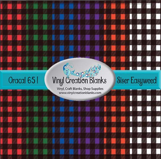 Small Buffalo Plaid Pattern Self Adhesive Outdoor Vinyl or Heat Transfer Vinyl (HTV)