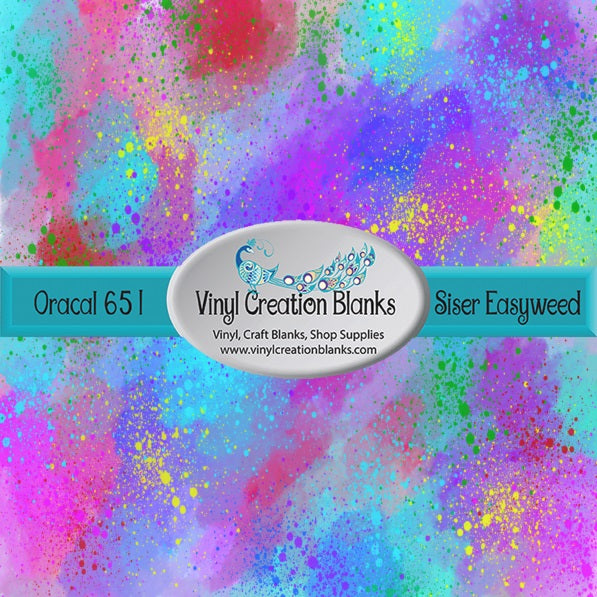 Paint Splat Watercolor Print Pattern Outdoor Vinyl or HTV