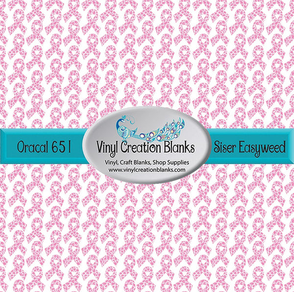 Pink Leopard Breast Cancer Pink Ribbon Pattern Outdoor Vinyl and Heat Transfer Vinyl