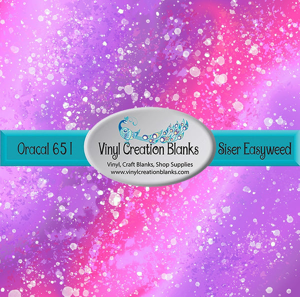 Pink Stardust Pattern Vinyl for All Vinyl Cutters, Adhesive Vinyl or Heat Transfer Vinyl