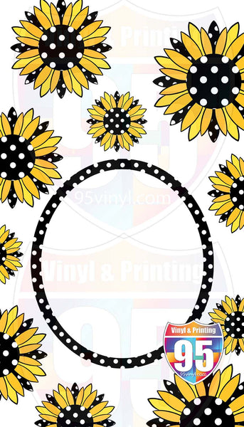 Polka Sunflowers on Garden Flag