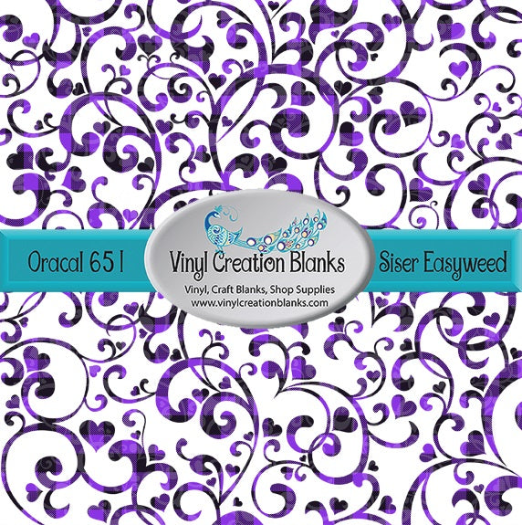 Purple Scroll Pattern Outdoor Vinyl or HTV