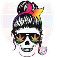 Rainbow 420 Mom Skull Heat(Iron On) Transfer or Sublimation Transfer