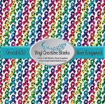 Paw Print Rainbow Awareness Ribbon Pattern Printed Self Adhesive Vinyl and Heat Transfer Vinyl
