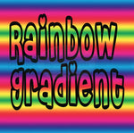 Rainbow Gradient Pattern Vinyl