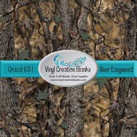 Real Life Woods Camo Pattern Printed Self Adhesive Vinyl and Heat Transfer Vinyl