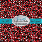 Red Leopard Pattern Outdoor Vinyl or Heat Transfer Vinyl for All Vinyl Cutters