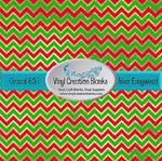 Red and Green Chevron on Faux Shimmer Vinyl or HTV for all Vinyl Cutters
