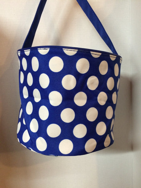 Royal Polka Dot Easter Bucket Tote