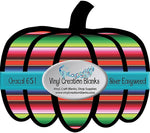Serape Pumpkin HTV or Sublimation Transfer