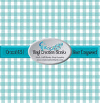 Smoky Turquoise Small Buffalo Plaid Pattern Permanent Vinyl or Heat Transfer (Iron On) Vinyl for All Vinyl Cutters