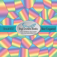 Rainbow Ombre Stained Glass Pattern Printed Self Adhesive Vinyl and Heat Transfer Vinyl