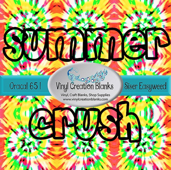 Summer Crush Tie Dye Pattern Craft Vinyl for Vinyl Cutters