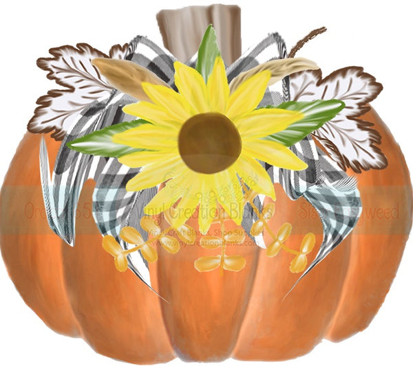 Sunflower Pumpkin HTV or Sublimation Transfer