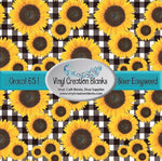 Sunflower Buffalo Plaid Pattern Craft Vinyl for Vinyl Cutters