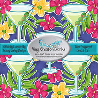 Martini Time Pattern Self Adhesive Vinyl and HTV