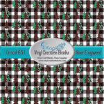 Trees on Buffalo Plaid Pattern Outdoor Vinyl or Heat Transfer Vinyl for All Vinyl Cutters