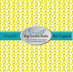 Yellow Ribbon Pattern Outdoor Vinyl and Heat Transfer Vinyl