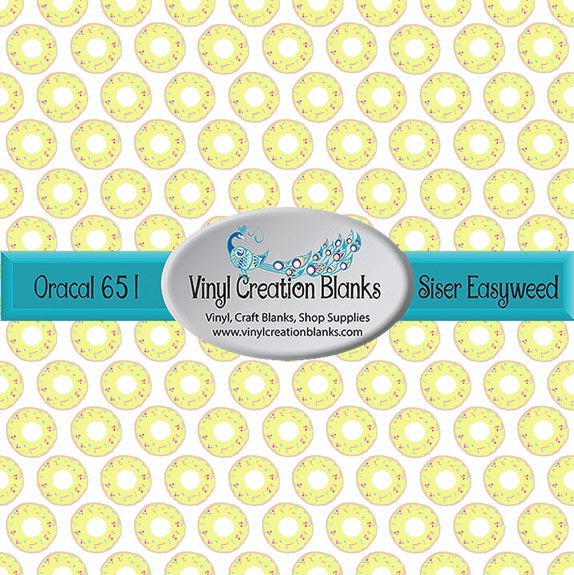 Doughnut Pattern Self Adhesive Vinyl or Heat Transfer Vinyl