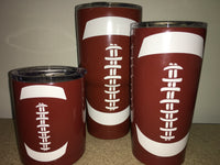 Football Double Wall Steel Tumbler