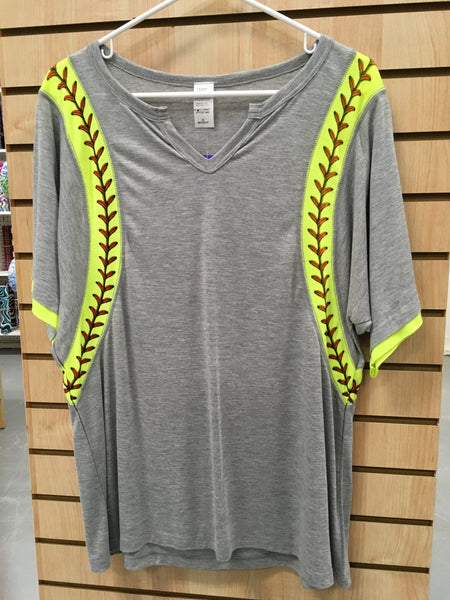 Softball Stripe Short Sleeved Shirt