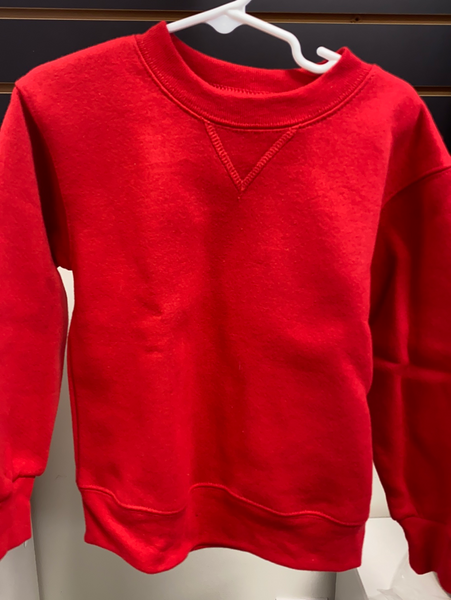 Soffe Youth Sweatshirt: Red