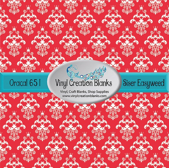 Damask on Cherry Pattern Outdoor Vinyl or Heat Transfer Vinyl