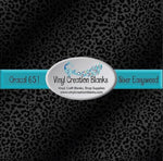 Black Ombré Leopard Pattern Permanent Self Adhesive Vinyl or Heat Transfer Vinyl for All Vinyl Cutters