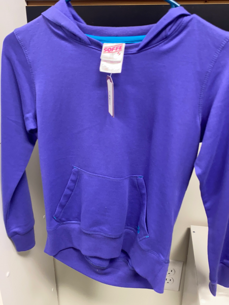 Soffe Thin Fleece Hoodie - Kids (Purple: M 8-10)