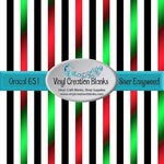 Christmas Glow Stripes Pattern Outdoor Vinyl or Heat Transfer Vinyl