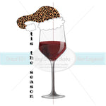 tis the Season Wine Glass Sublimation Transfer