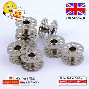 10 X Metal Bobbins - PREMIUM Sewing Machine Spool UNIVERSAL Fits Most Brands