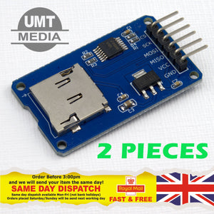 2 X Micro SD TF Memory Card Reader Module SPI interface Arduino Raspberry PI