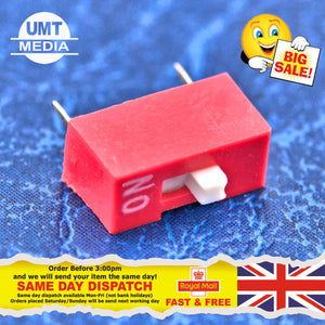 10Pcs Slide Type Switch Module 2.54mm Position Way DIP Red Pitch