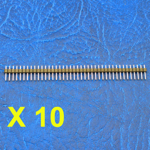 10pcs 40-pin Header Pins 2.54mm Breakaway Male for Breadboard 1x40 Single Row