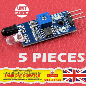5 X PCS Obstacle Avoidance IR Sensor Infrared Module Arduino Raspberry PI