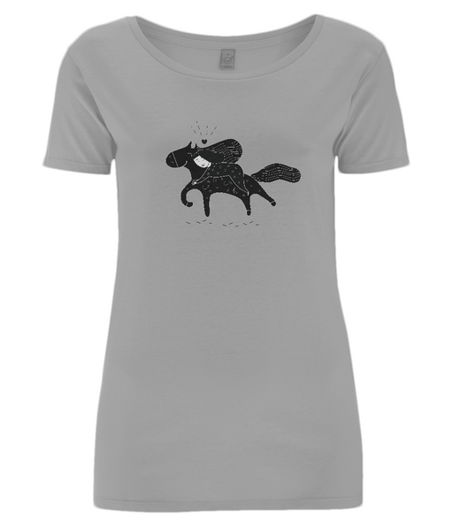 Women's Open Neck T-Shirt Sofi.Horse