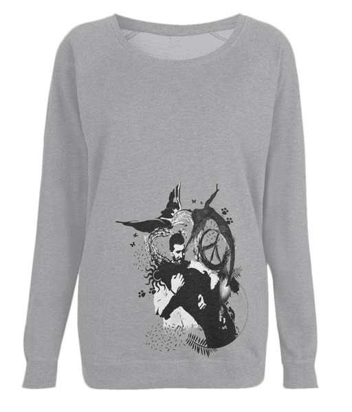Women's Raglan Sweatshirt Abstract.Vegan.ii