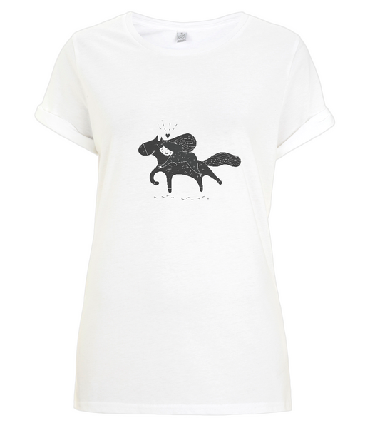 Women's Rolled Sleeve T-Shirt Sofi.Horse